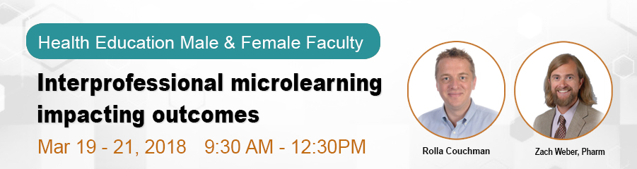 Health Education Faculty - Interprofessional Microlearning Impacting Outcomes